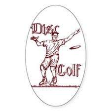 Disc Golfer Ron Oval Decal