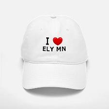 I Love Ely Baseball Baseball Cap