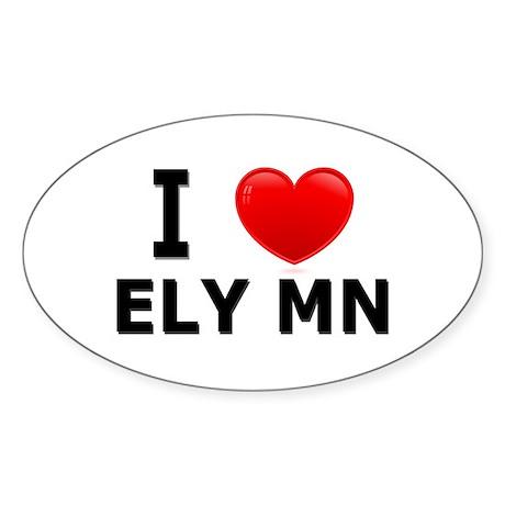 I Love Ely Oval Sticker (10 pk)