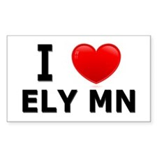 I Love Ely Rectangle Sticker 10 pk)