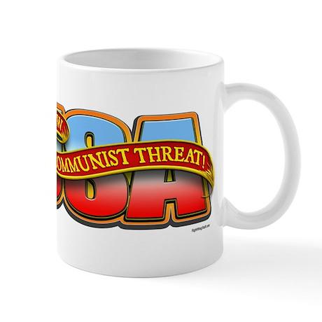 Defeat new Commie threat Mug
