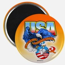 """Defeat new Commie threat 2.25"""" Magnet (100 pack)"""