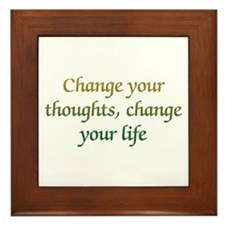 Change Your Thoughts Framed Tile