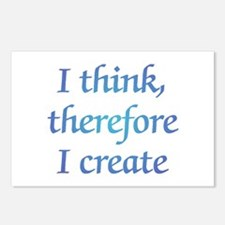 Therefore I Create Postcards (Package of 8)