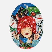 Let it Snow, Let it Snow Oval Ornament