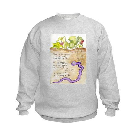Earl the Worm Kids Sweatshirt