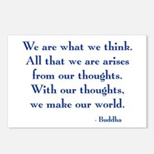 We Are What We Think Postcards (Package of 8)