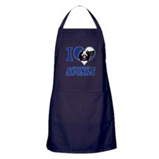 I Love (Heart) Skunks Apron (dark)