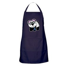 Blue Awareness Ribbon Goofkin Apron (dark)