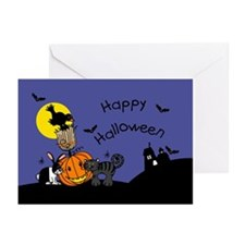 Halloween bunny and friends Greeting Cards (Packag