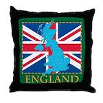 England Map Throw Pillow