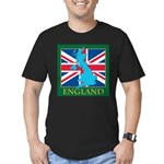 England Map Men's Fitted T-Shirt (dark)