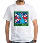 England Map White T-Shirt