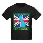 England Map Kids Dark T-Shirt