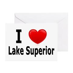 I Love Lake Superior Greeting Cards (Pk of 20)