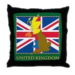 United Kingdom Map Throw Pillow