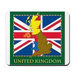 United Kingdom Map Mousepad