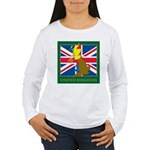 United Kingdom Map Women's Long Sleeve T-Shirt