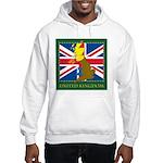 United Kingdom Map Hooded Sweatshirt