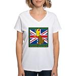United Kingdom Map Women's V-Neck T-Shirt