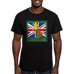 United Kingdom Map Men's Fitted T-Shirt (dark)