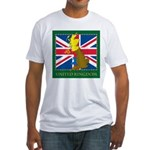 United Kingdom Map Fitted T-Shirt