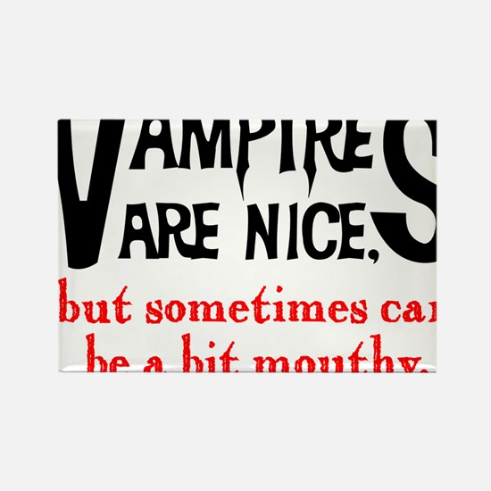 Vampires Are Nice Rectangle Magnet