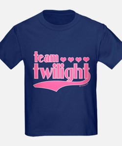 Team Twilight Pink Hearts T