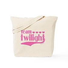 Team Twilight Pink Hearts Tote Bag