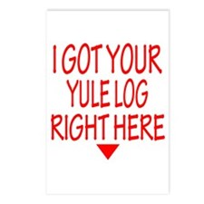 Yule Log Right Here Postcards (Package of 8)