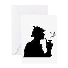 Sherlock, Pondering Greeting Card