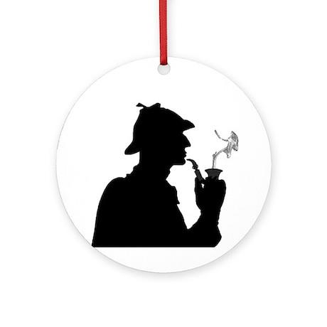 Sherlock, Pondering Ornament (Round)