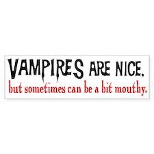 Vampires Are Nice Bumper Bumper Sticker