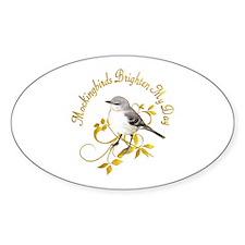 Mockingbird Oval Sticker (50 pk)