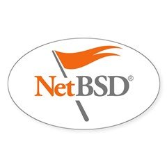NetBSD Devotionalia + TNF Support Oval Decal