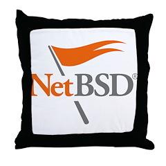 NetBSD Devotionalia + TNF Support Throw Pillow