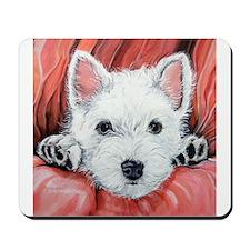 Westie Puppy Love Mousepad