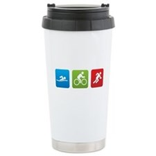 Funny Triathlon Travel Mug