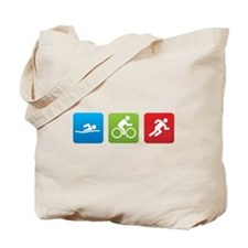Cool Swim bike run Tote Bag