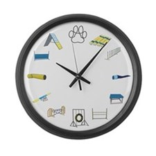 Agility Circle Large Wall Clock