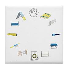 Agility Circle Your Text Tile Coaster