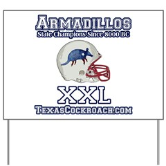 Armadillos Football XXL Yard Sign