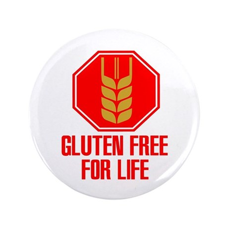 "Gluten Free For Life Stop 3.5"" Button"