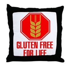 Gluten Free For Life Stop Throw Pillow