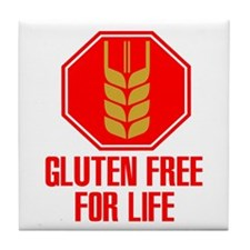 Gluten Free For Life Stop Tile Coaster