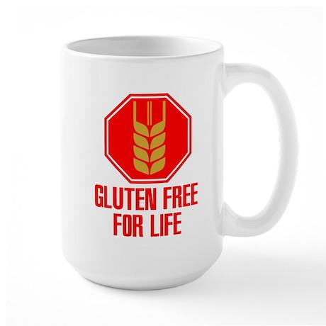 Gluten Free For Life Stop Large Mug