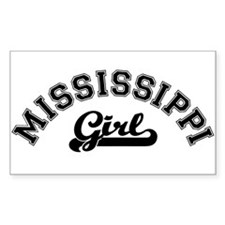 Mississippi Girl Rectangle Decal