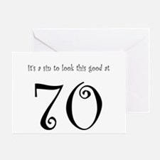 it's a sin 70 Greeting Card