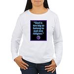 Big God I Women's Long Sleeve T-Shirt
