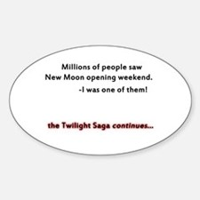 Twilight Saga Oval Decal